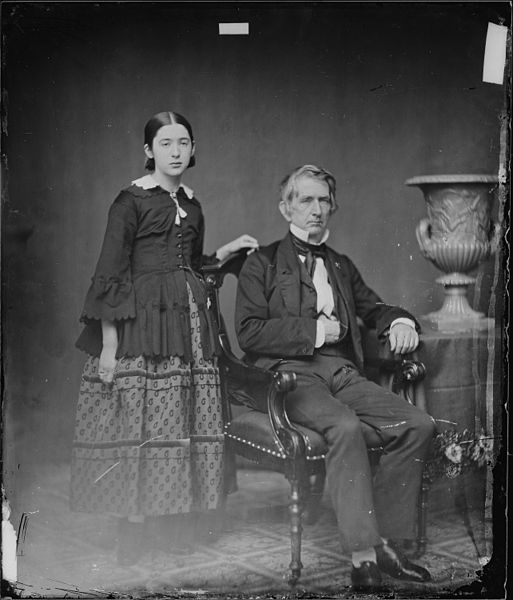 William Seward, in a Masonic pose, with daughter Fannie