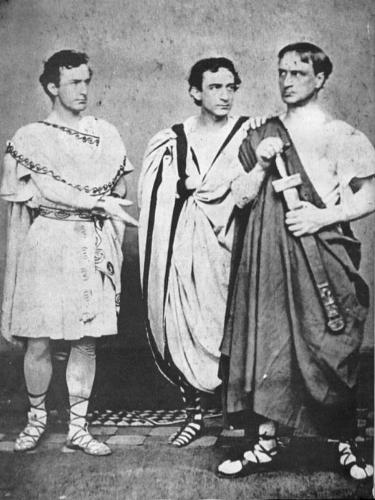 The Booth siblings - John Wilkes, Edwin and Junius, Jr.